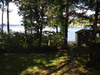 Path to Lake Sunapee from rental property